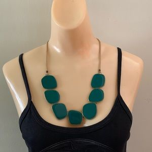 Lia Sophia Green Amazonia Statement Necklace